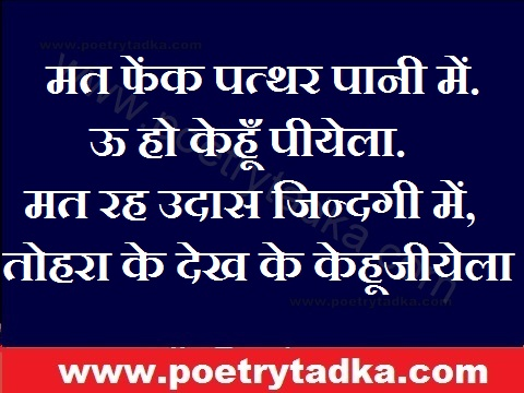 bhojpuri shayari mat fek patthar