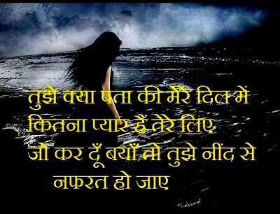 love shayari wallpaper whatsapp profile image photu in hindi tujhe kya pta mere dil tere liye nafrat