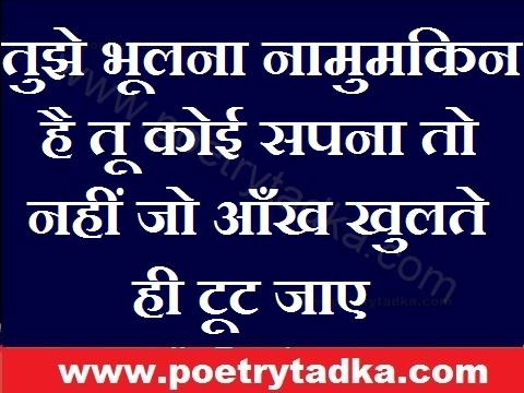love status for whatsapp in hindi tujhe bhulna na mumqin hai