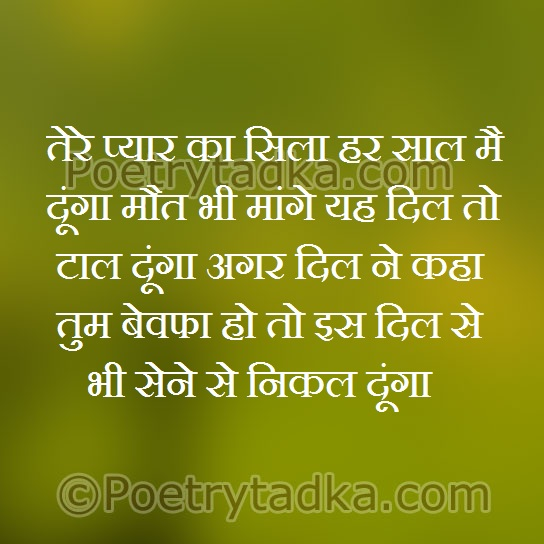 mohabbat shayri wallpaper whatsapp profile image photu in hindi tere pyar ka sila